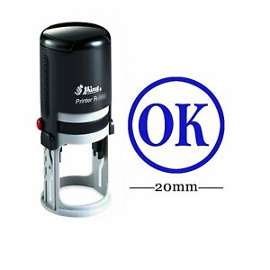Ok Round Self Inking Rubber Stamp Custom Personalised Teachers Stamps shiny r4b