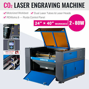 Co2 80w 40 x24 Laser Engraver Engraving Cutting Machine Motorized Workbed New