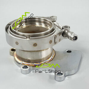 For Cummins Holset Wh1c Hx35 Hx35w Hx40 Downpipe Turbo Flange To 3 V Band Kit