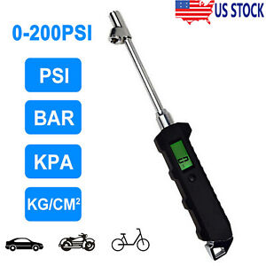 Digital Tire Air Pressure Gauge Checker Truck Car Tester Heavy Duty 200 Psi Lcd