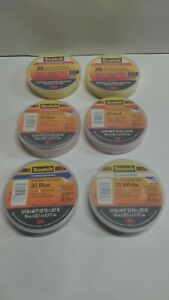 3m Scotch Vinyl Electrical Tape No 35 3 4 x66ft 0 007 Yellow red blue White
