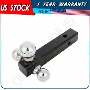 Tow Trailer Hitch 3 Ball Mount For 2 Class 3 Class 4 Receiver Truck Towing