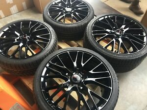 Black C7 Z06 Style 19 20 Corvette Wheel Michelin Tire Package 2014 2019 Stingray