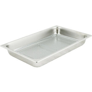 Full Size Stainless Steel Fry Dump Station Pan And Cooling Rack Pan Grate Set
