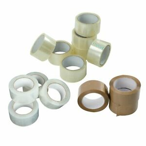 12 36 72 Rolls Clear brown Packing Packaging Carton Sealing Tape 2x110 Yards