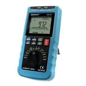 Digital Automotive Multimeter Pro Car Diagnose Tool Engine Analyzer Dwell Tester