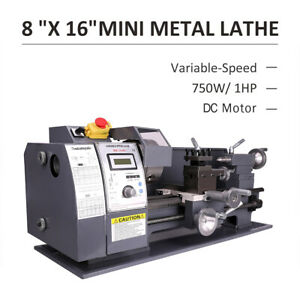 750w 8x16 Automatic Mini Metal Lathe Variable speed Wood Bench Tooling