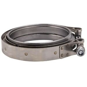 4 Universal Stainless Steel V Band Clamp W Flange For Turbo Exhause Down Pipe