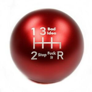 Ssco Matte Red Sr F It 55mm 190 Grams Weighted Shift Knob Shifter Sphere