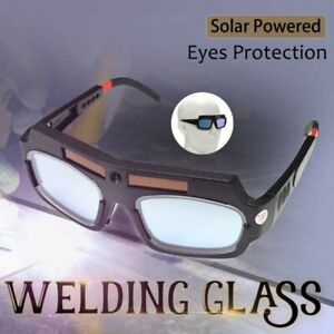 Auto Solar Powered Darkening Welding Glasses Arc Tig Mig Eyes Goggles Protection