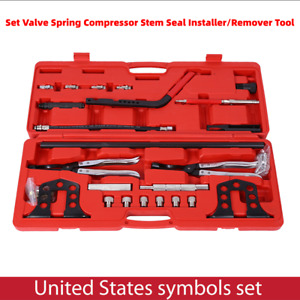 Hot Cylinder Valve Spring Compressor Stem Seal Installer Remover Tool Kit Us