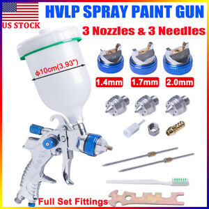 2008hvlp Air Spray Gun Kit Gravity Feed Auto Paint Car Primer 1 4mm 2 0mm Nozzle
