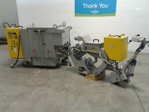 Trimm T26 Sase Concrete Floor Shotblaster 10 Inches With Trimm A6 Dust Collector