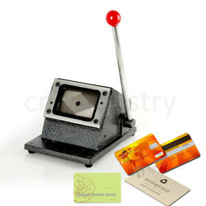 Usa Stock Heavy Duty Photo Id Manual Die Cutter Punch Credit Card Round Corner