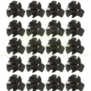 20x T10 194 5 8 Hole Wedge Instrument Panel Dash Light Bulb Base Twist Sockets