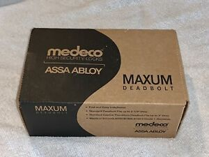 Medeco High Security Locks Assa Abloy Maxum Deadbolt Bright Chrome new In Box