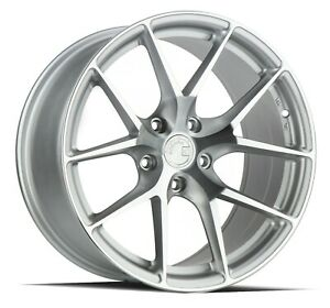 Aodhan Aff7 18x8 5 35 18x9 5 35 5x112 Silver Machined Staggered Set Of 4