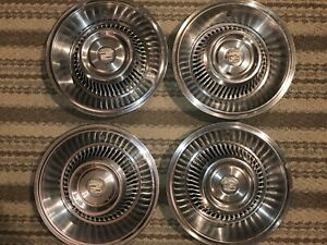 1963 1964 Cadillac Gm Chevrolet 4x Hub Caps Wheel Covers Vintage Antique Used