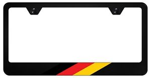 German License Plate Frame Tag Holder Germany Flag Car Parts Black Metal Auto