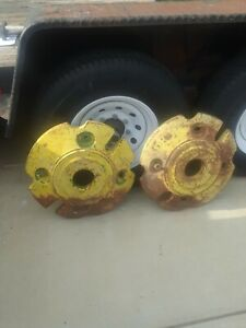 Vintage Allis Chalmers Tractor Rear Wheel Weights Pair Set Part 2795 10 Wd