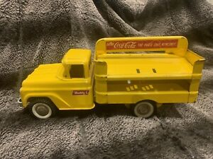 Vintage BUDDY L Coca Cola Pressed Steel Yellow Delivery Truck