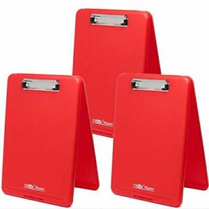Think2master 3 Pack Red Plastic Storage Clipboard 25 Heavier 3 Pack red