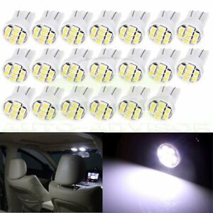 20x White T10 W5w 194 168 Led Instrument Dash Panel Gauge Light Bulbs For Ford
