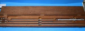 Starrett No 124 c Solid Rod Inside Micrometer Set With Wood Case