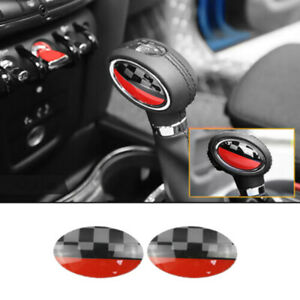 30x 2pcs Car Gear Shift Knob Cover Sticker For Mini Cooper Jcw F54 F55 F56 F7l6