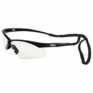 Erb Octane Bifocal Clear Safety Glasses W Neck Cord Magnifier Reader Reading
