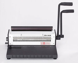 Heavy Duty Manual 2 Loop Wire Binding Machine Comb wire o Binder movable Pin 3 1