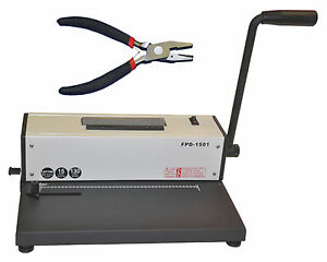 New Metal Based Spiral Coil Binding Machine Binder W Electric Inserter pliers