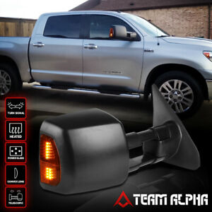 Fits 2007 2016 Toyota Tundra Power Heat Amber Led Right Side Tow Towing Mirror