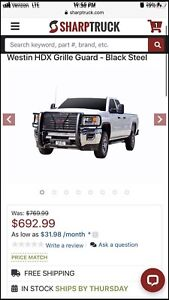 Westin Hdx Hd Grille Brush Guard Blk For Chevy Gmc 2500 3500 15 19 Led Bars