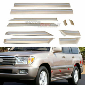 For Toyota Land Cruiser Lc100 4700 1998 2007 Door Side Body Strip Mouldings Trim