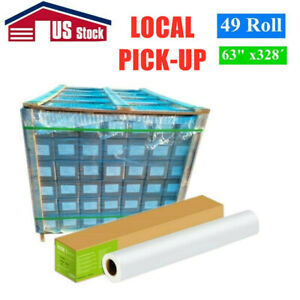 Us Stock 49 Rolls 90gsm 63 X328 Hanji Dye Sublimation Paper For Heat Transfer