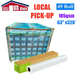 Usa 49 Rolls 105gsm 64 X 328 Dye Sublimation Paper For Heat Transfer Printing