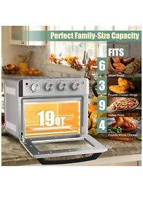 7 in 1 Convection Oven Air Fry Bake Broil Toast Dehydrate Pizza Warm a