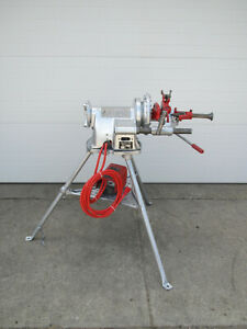 Ridgid 300 T2 Power Pipe Threader W Complete Carriage Threading Machine Used