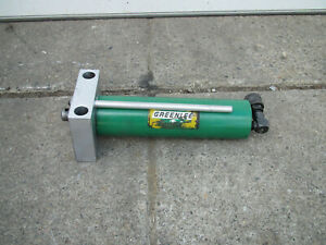 Greenlee 880 Hydraulic Pipe Bender 15 ton Cylinder Ram Used Free Shipping
