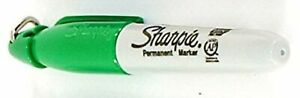 Sharpie Mini Markers With Cap Clip Keychain Green