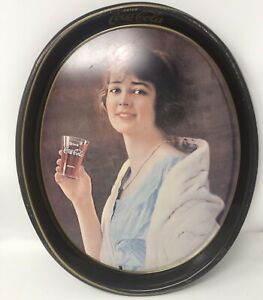 1973 Drink Coca'Cola 1923 Advertisement Lady Metal Serving Tray. 15 x 12