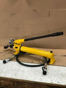 Manual Hydraulic Pump High Pressure 10000psi 2 Stage Portable