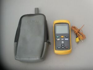 Fluke 52 Ii Thermocouple Thermometer W probes Carry Case