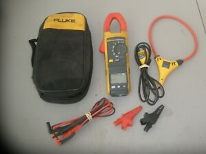 Fluke 381 Remote Display Trms Clamp Meter W Leads Carry Case Iflex Cable Cli