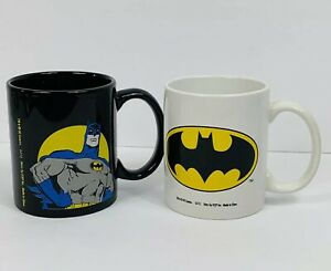 BATMAN Coffee Mug Cups Lot Of 2 12oz.