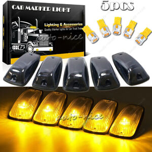 Cab Roof Marker Running Lights Amber T10 Led For Gmc Chevy C1500 3500 264159bk