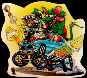 Rat Fink Sticker fully Blown Nova 3 1 2 X 3 1 4 Uv Glossed Cool Looking