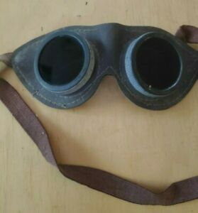 Vintage Leather Safety Welding Ussr Googles