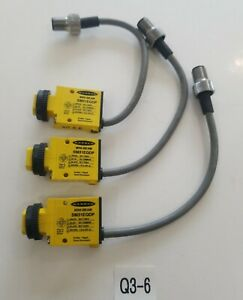 lot Of 3 Banner Sm31eqdp Mini Beam Photoelectric Sensors Warranty